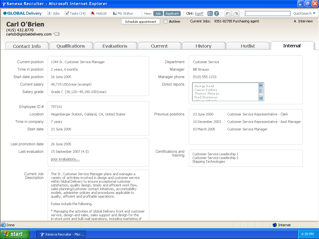 interface design applicant tracking software